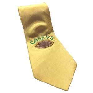 Caseys Football Personalized Embroidered Gold Tie